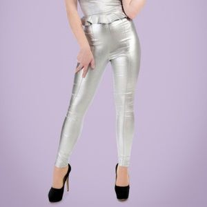 Silver Collectif pants, small/UK10